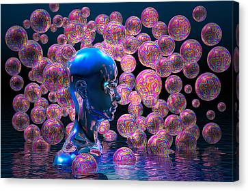 Psychedelic Bubbles Canvas Print by Carol and Mike Werner