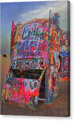Psychedelic Cadillac Canvas Print by Kathleen Scanlan
