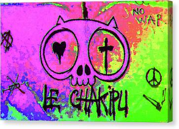 Psychedelic Cat Canvas Print by Manik Designs