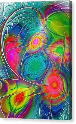 Psychedelic Colors Canvas Print by Anastasiya Malakhova