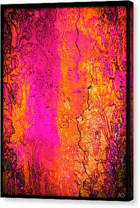 Canvas Print featuring the digital art Psychedelic Flashback - Late 1960s by Absinthe Art By Michelle LeAnn Scott