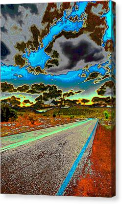 Psychedelic Highway Canvas Print