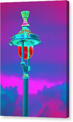 Psychedelic London Streetlight Canvas Print by Richard Henne