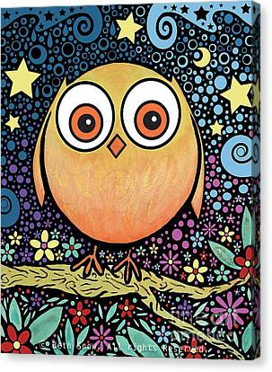 Psychedelic Owl Canvas Print by Beth Snow