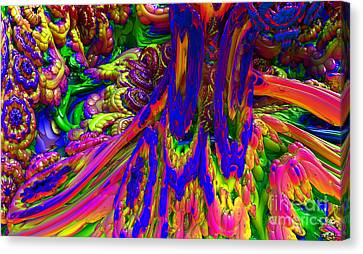 Canvas Print featuring the digital art Psychedelic Pastries by Arlene Sundby