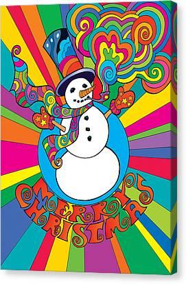 Psychedelic Santa 2 Canvas Print