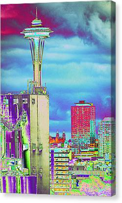 Psychedelic Seattle Canvas Print by Richard Henne