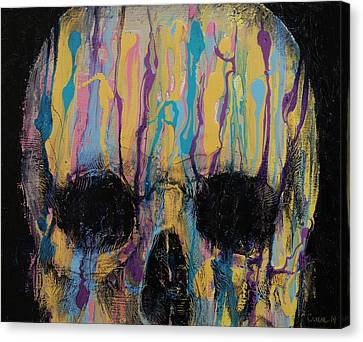 Psychedelic Skull Canvas Print by Michael Creese
