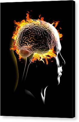 Seat Of The Soul Canvas Print - Psychic Brain, Conceptual Image by Science Photo Library