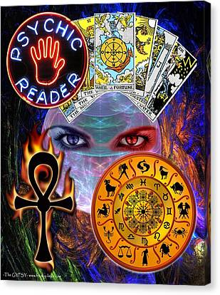 Psychic Reader Canvas Print