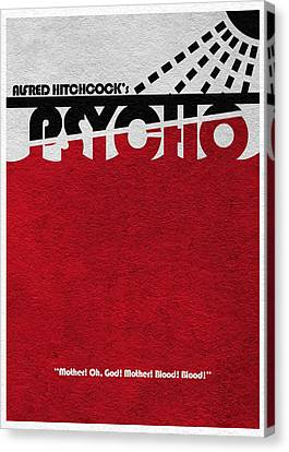 Psycho Canvas Print by Ayse Deniz