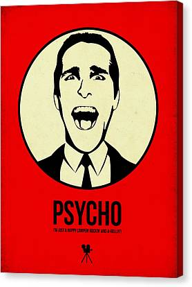 Psycho Poster 1 Canvas Print by Naxart Studio