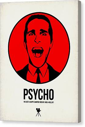 Psycho Poster 2 Canvas Print by Naxart Studio