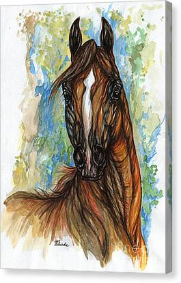 Psychodelic Chestnut Horse Original Painting Canvas Print by Angel  Tarantella