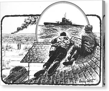 Outer Canvas Print - Pt Boats Off Nc Coast In Wwii by Harry West