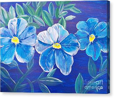 Ptg. Blue Million Bells Canvas Print by Judy Via-Wolff