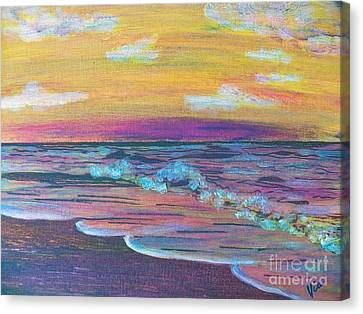 ptg  Sanibel Sunset Canvas Print by Judy Via-Wolff