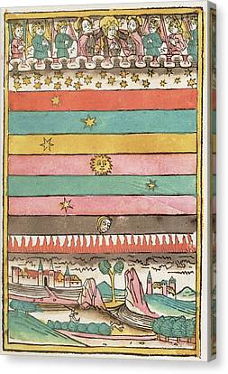 Cosmology Canvas Print - Ptolemaic Universe, 1481 by Granger