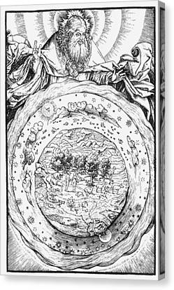 Cosmology Canvas Print - Ptolemaic Universe, 1534 by Granger
