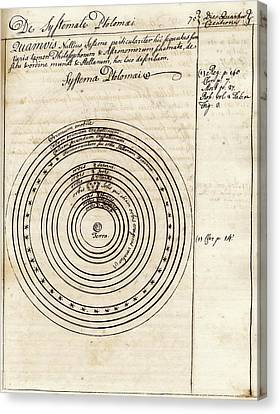 Ptolemaic World System Canvas Print by American Philosophical Society