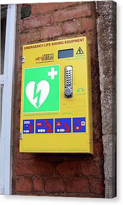 Arrest Canvas Print - Public Defibrillator by Martin Bond
