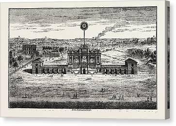 Public Fireworks, 1748, London, Uk Canvas Print by Litz Collection
