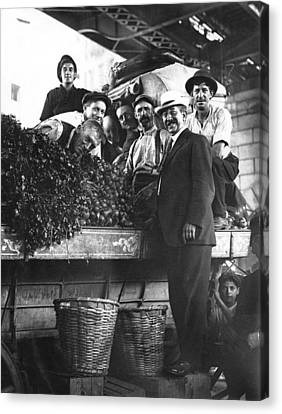 Public Market Vegetable Stand Canvas Print by Underwood Archives