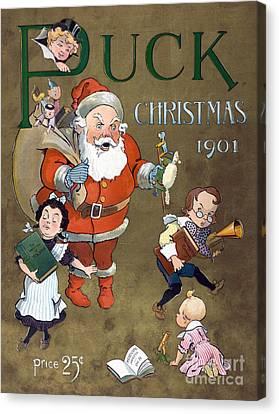 Puck Christmas 1901 Canvas Print