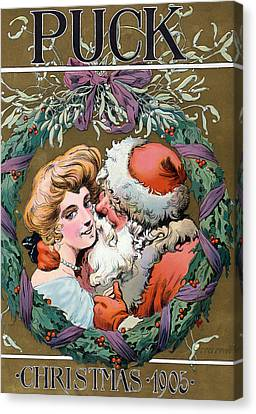 Puck Christmas, 1905 Canvas Print by Science Source