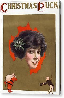Puck Christmas, 1912 Canvas Print