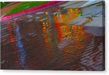 Puddle Art Paved Canvas Print by ARTography by Pamela Smale Williams
