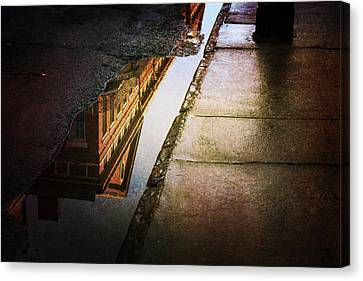 Canvas Print featuring the photograph Puddles Of The Past by Heather Green