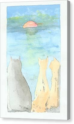 Puddy Tats Canvas Print by Blg H