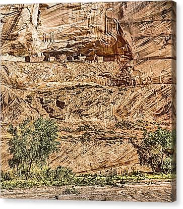 Pueblo 2 Canyon De Chelly Navajo Nation Canvas Print by Bob and Nadine Johnston