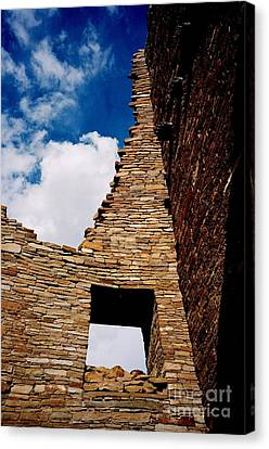Canvas Print featuring the photograph Pueblo Bonito New Mexico by Jacqueline M Lewis