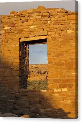 Pueblo Bonito Through A Doorway Canvas Print