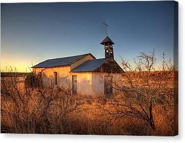 Pueblo Architecture Canvas Print - Pueblo Church by Peter Tellone