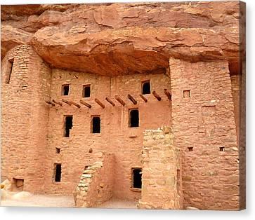 Pueblo Cliff Dwellings Canvas Print by Tony Crehan