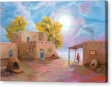 Pueblo De Las Lunas Canvas Print by Jerry McElroy