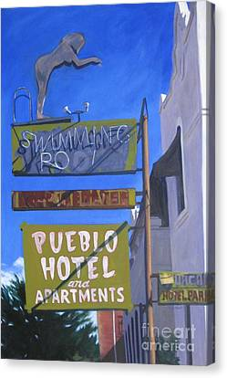 Pueblo Hotel Canvas Print by Katrina West