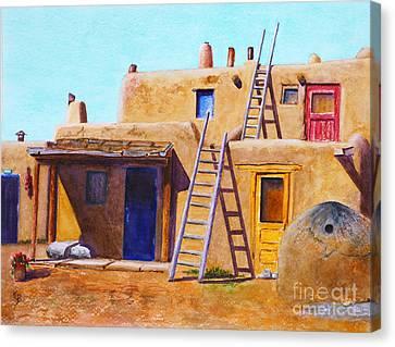 Pueblo Canvas Print by Karen Fleschler