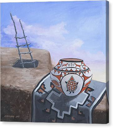 Pueblo Life Canvas Print by Jerry McElroy