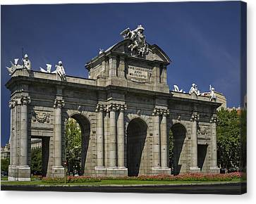 Independance Canvas Print - Puerta De Alcala Madrid Spain by Susan Candelario