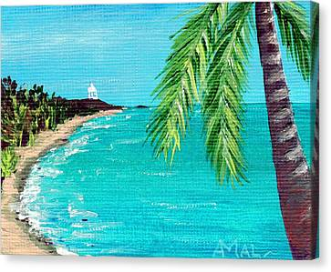 Design Canvas Print - Puerto Plata Beach  by Anastasiya Malakhova