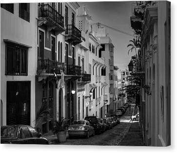 Puerto Rico - Old San Juan 006 Bw Canvas Print by Lance Vaughn