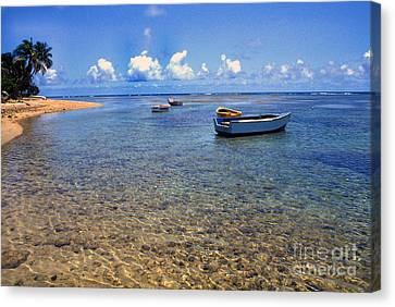 Puerto Rico Luquillo Beach Fishing Boats Canvas Print by Thomas R Fletcher