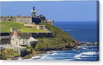 Puerto San Juan Light Ocean View Canvas Print