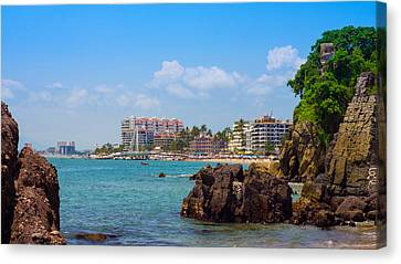 Puerto Vallarta Canvas Print by Aged Pixel
