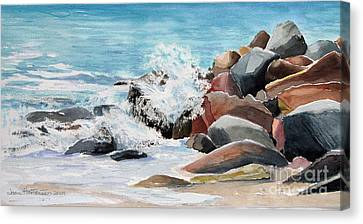 Puerto Vallarta Rocks Canvas Print by Joan Hartenstein
