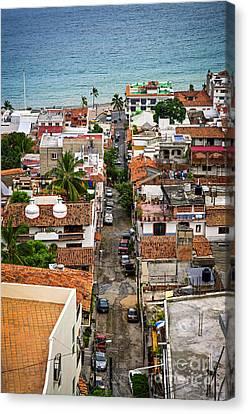 Puerto Vallarta Street Canvas Print by Elena Elisseeva
